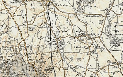 Old map of Wriggle River in 1899