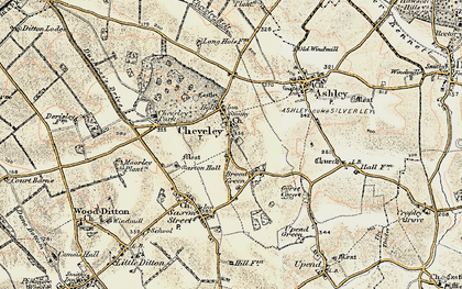 Old map of Cheveley in 1899-1901