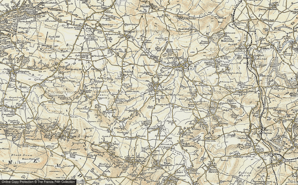 Old Map of Historic Map covering Woodford Hill in 1899