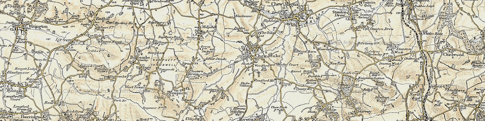 Old map of Woodford Hill in 1899