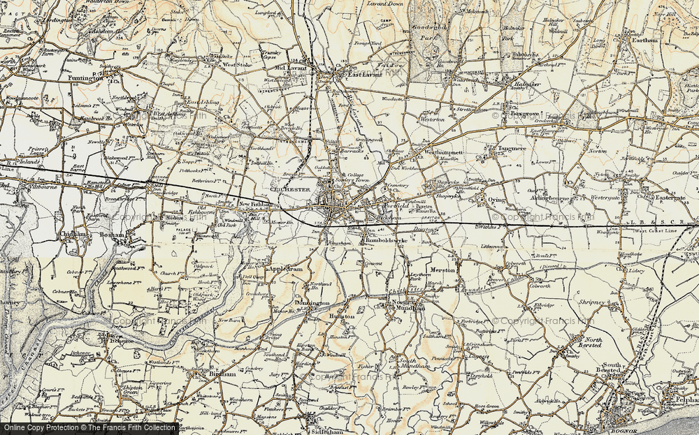 Old Map of Chichester, 1897-1899 in 1897-1899
