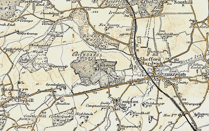 Old map of Chicksands in 1898-1901