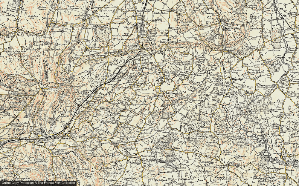 Old Map of Historic Map covering Langhurst Manor in 1897-1909