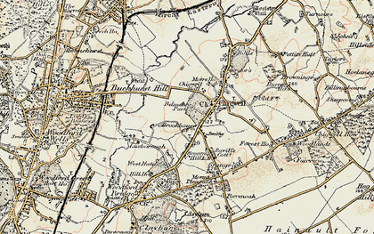 Old map of Chigwell in 1897-1898