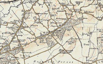Old map of Chigwell Row in 1897-1898