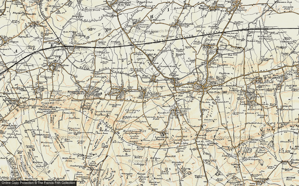 Old Map of Childrey, 1897-1899 in 1897-1899