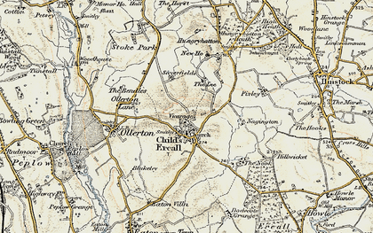 Old map of Childs Ercall in 1902