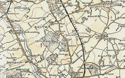 Old map of Childwick Green in 1898