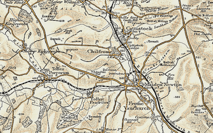 Old map of Whitesheet Hill in 1899