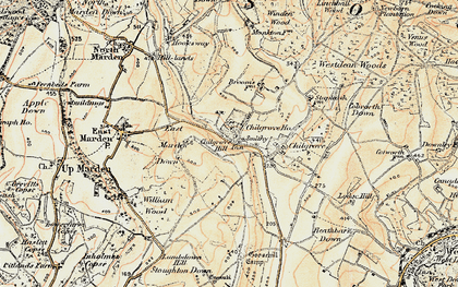 Old map of Westdean Woods in 1897-1900