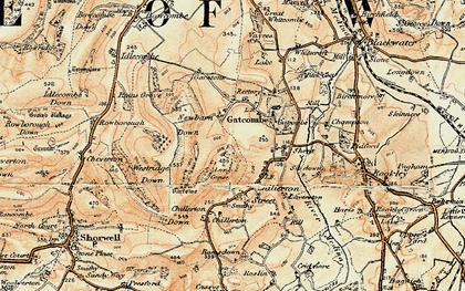 Old map of Westridge Down in 1899-1909