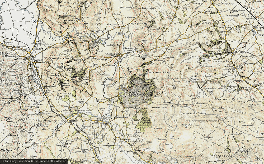Old Map of Chillingham, 1901-1903 in 1901-1903