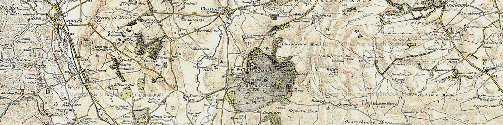 Old map of Willie Law in 1901-1903