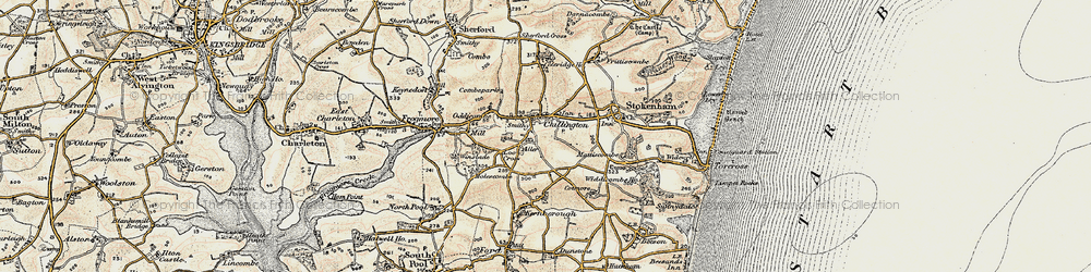 Old map of Chillington in 1899