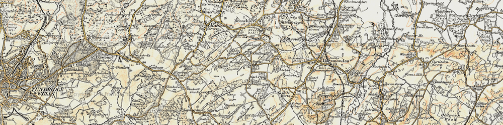 Old map of Tibb's Court in 1897-1898