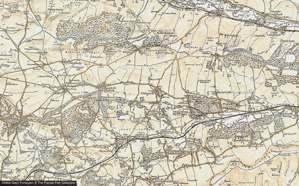 Old Map of Historic Map covering Stockton Wood in 1897-1899