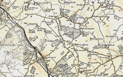 Old map of Chiltern Green in 1898-1899