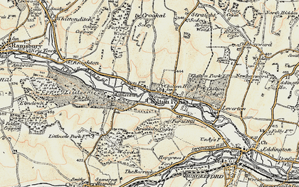 Old map of Chilton Foliat in 1897-1900