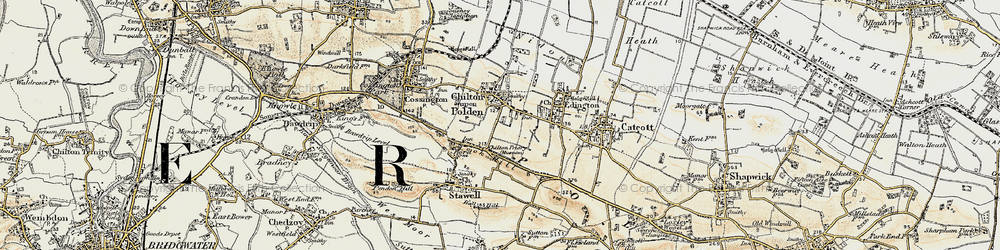 Old map of Chilton Polden in 1898-1900