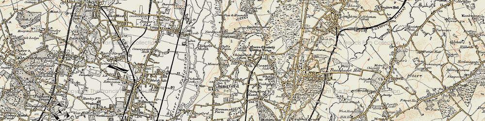 Old map of Chingford Green in 1897-1898