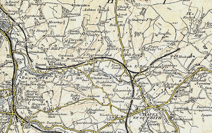 Old map of Chinley in 1902-1903