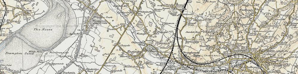 Old map of Westend in 1898-1900