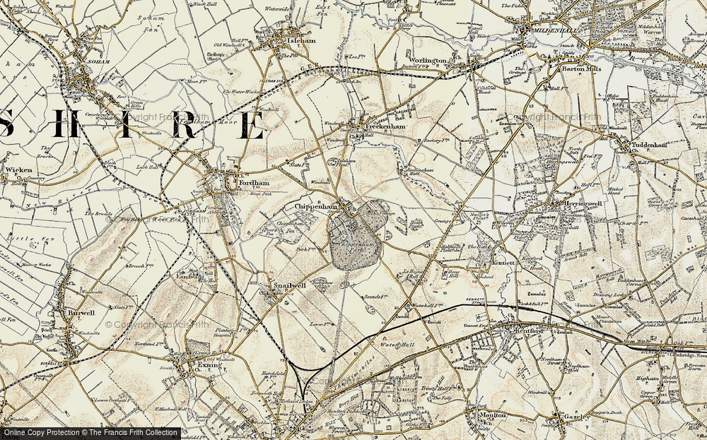 Old Map of Historic Map covering Badlingham Manor in 1901