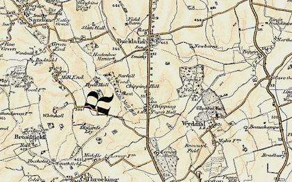 Old map of Chipping in 1898-1899