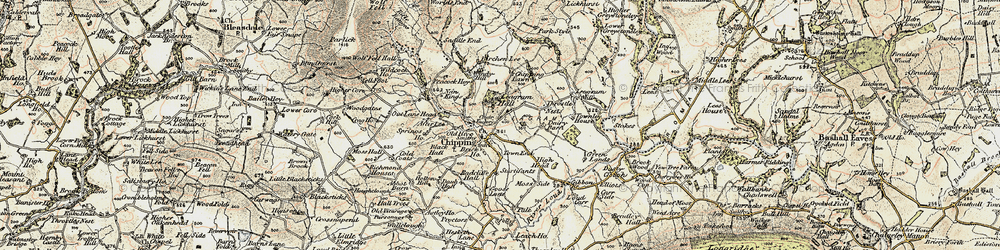 Old map of Wolfen Hall in 1903-1904