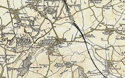 Old map of Chipping Campden in 1899-1901