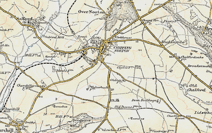 Old map of Chipping Norton in 1898-1899