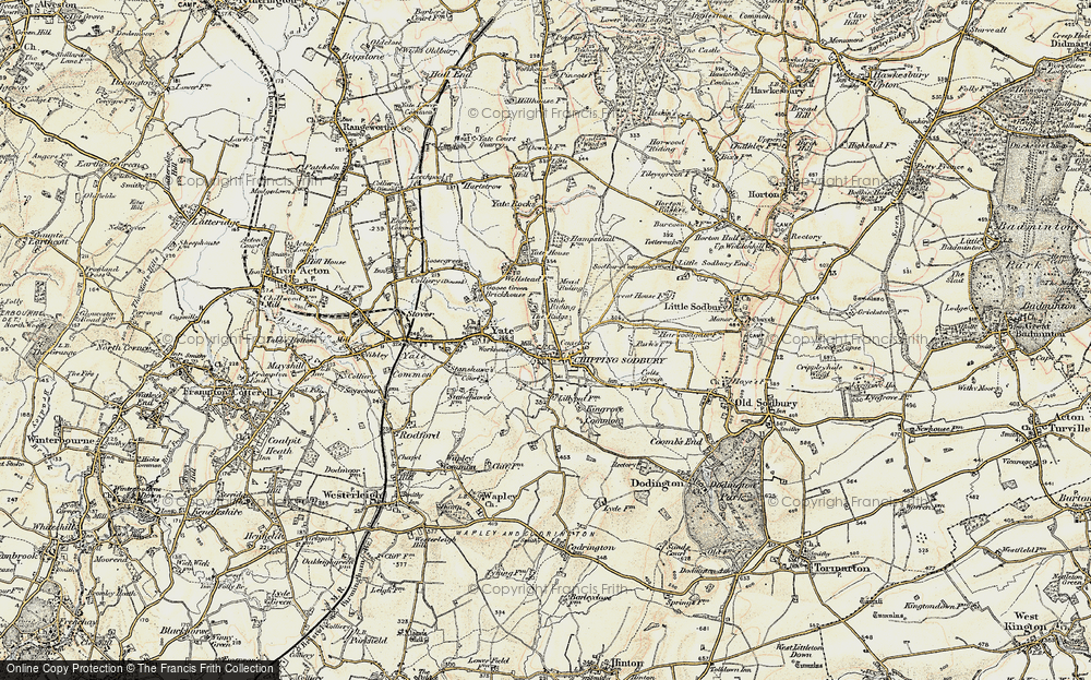 Old Map of Chipping Sodbury, 1898-1899 in 1898-1899