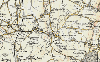 Old map of Chipping Sodbury in 1898-1899