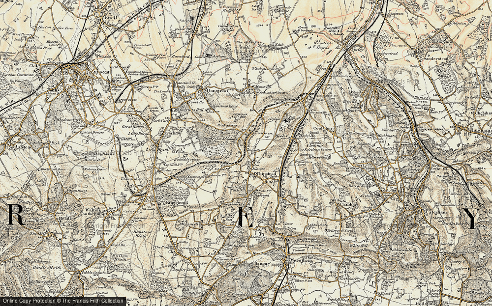 Old Map of Chipstead, 1897-1909 in 1897-1909