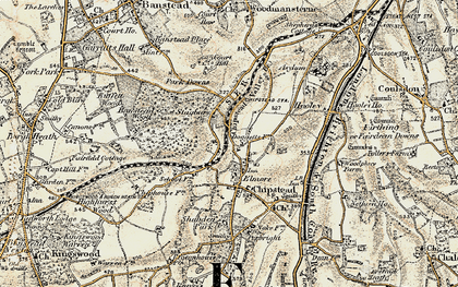 Old map of Banstead Wood in 1897-1909