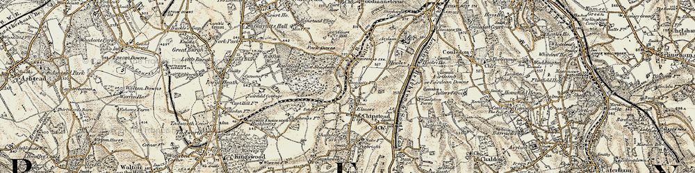 Old map of Chipstead in 1897-1909