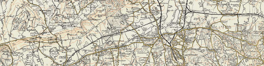 Old map of Chipstead in 1898