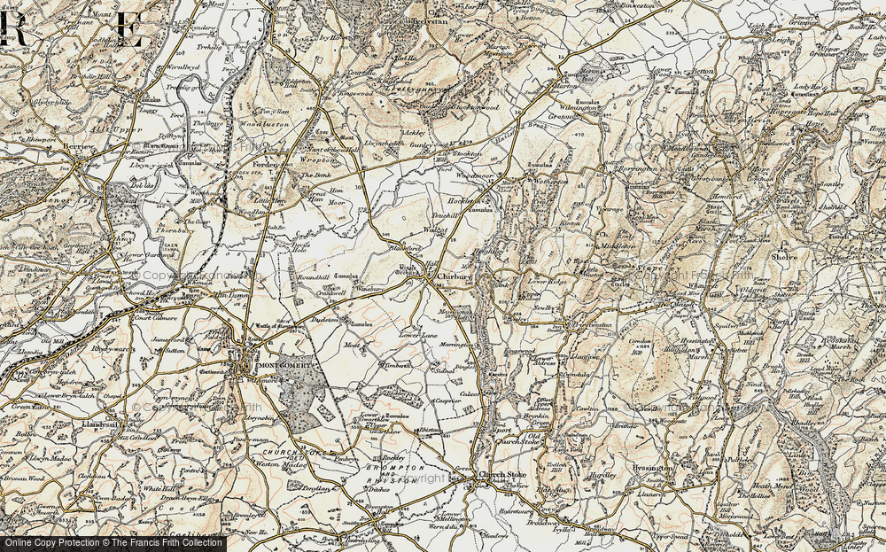 Old Map of Historic Map covering Timberth in 1902-1903