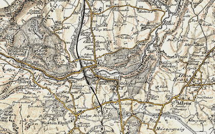 Old map of Chirk in 1902