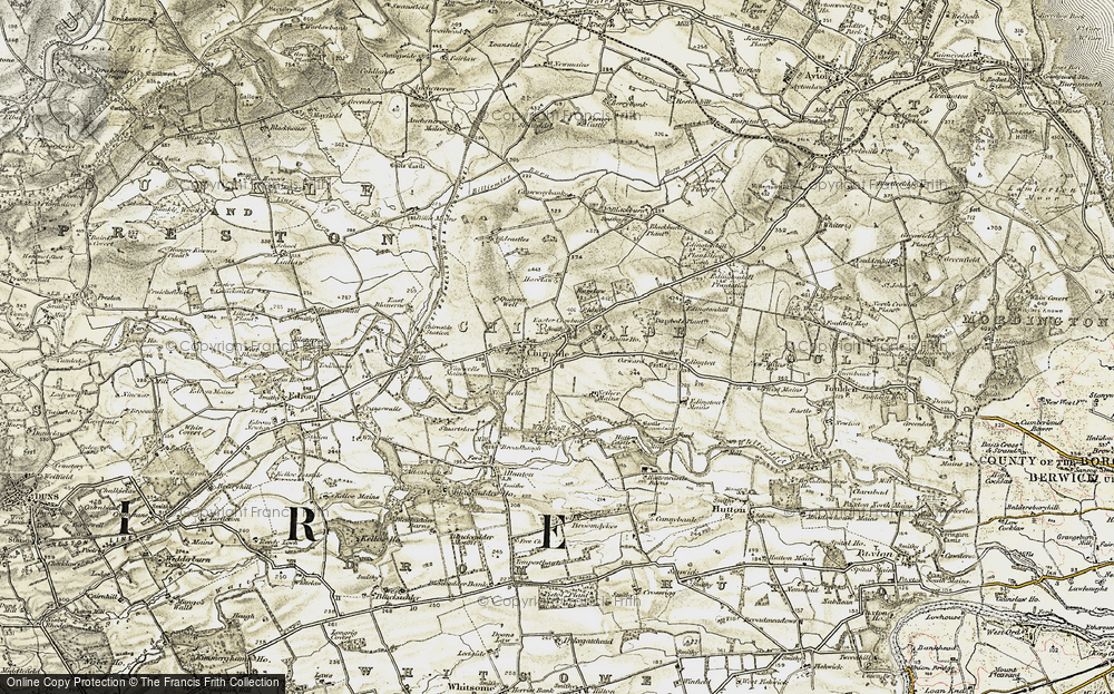 Old Map of Historic Map covering Whitehall in 1901-1904