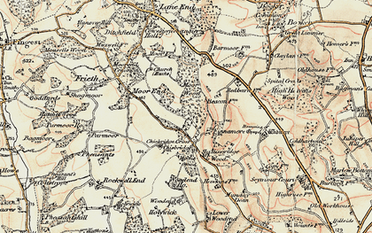 Old map of Chisbridge Cross in 1897-1898