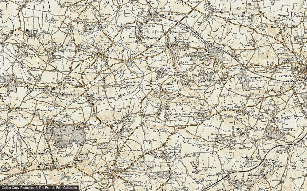 Old Map of Historic Map covering Balham Hill in 1898-1900
