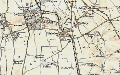 Old map of Chiseldon in 1897-1899