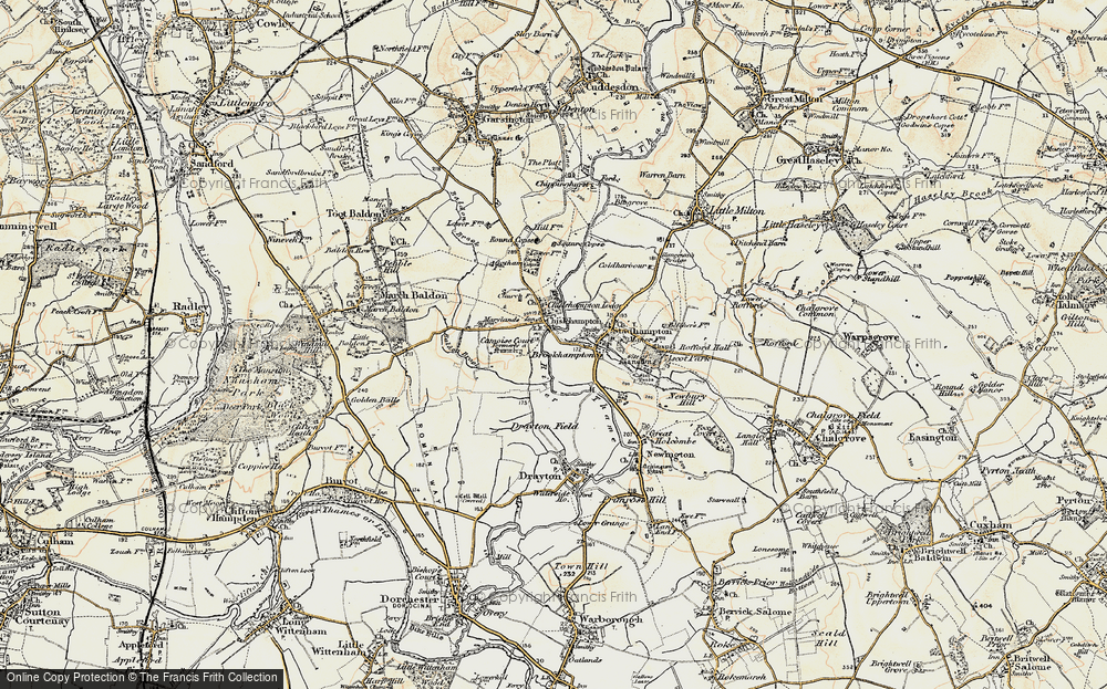 Old Map of Chiselhampton, 1897-1899 in 1897-1899