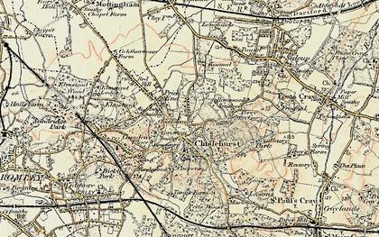 Old map of Chislehurst in 1897-1902