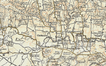 Old map of Chithurst in 1897-1900