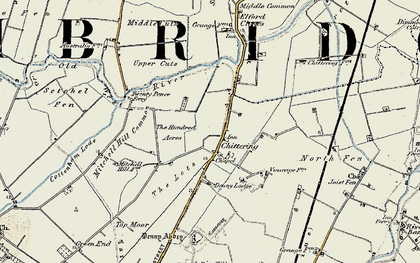 Old map of Chittering in 1901