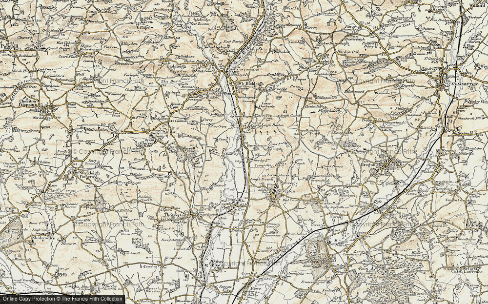 Old Map of Historic Map covering Lee Cross in 1898-1900