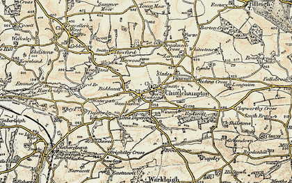 Old map of Winson in 1899-1900