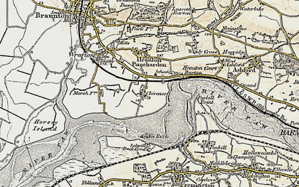 Old map of Allen's Rock in 1900